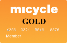 Gold membership to Micycle Bike shops